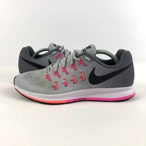 NIKE Air Zoom Pegasus 33 Gray Pink 831356 006